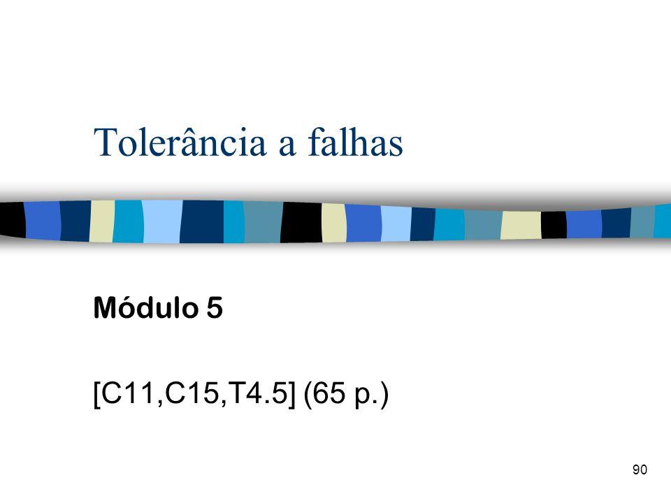 Tolerância a falhas Módulo 5 [C11,C15,T4.5] (65 p.)